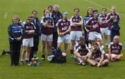 30 April 2005; Members of the Galway team watch the presentation to Cork. Suzuki Ladies National Football League, Division 1 Final, Cork v Galway, Gaelic Grounds, Limerick. Picture credit; Ray McManus / SPORTSFILE