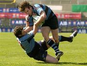7 May 2005; John O'Connor, Shannon, is tackled by Greg Mitchel, Belfast Harlequins. AIB All Ireland League 2004-2005, Division 1 Final, Shannon v Belfast Harlequins, Lansdowne Road, Dublin. Picture credit; Matt Browne / SPORTSFILE