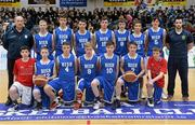 22 January 2014; The St Joseph's Patrician College team. All-Ireland Schools Cup U16A Boys Final, Calasanctius College, Oranmore, Co. Galway v St Joseph's Patrician College, Nun's Island, Co. Galway. National Basketball Arena, Tallaght, Co. Dublin. Picture credit: David Maher / SPORTSFILE