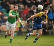 26 January 2014; Wayne McKeon, Leitrim, in action against Kevin Higgins, Roscommon. FBD League, Final, Leitrim v Roscommon. Páirc Sean Mac Diarmada, Carrick on Shannon, Co. Leitrim. Picture credit: David Maher / SPORTSFILE