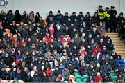 26 January 2014; Spectators watch on from the main stand during the game between  Leitrim and Roscommon. FBD League, Final, Leitrim v Roscommon. Páirc Sean Mac Diarmada, Carrick on Shannon, Co. Leitrim. Picture credit: David Maher / SPORTSFILE