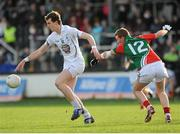 2 February 2014; Sean Hurley, Kildare, in action against Adam Gallagher, Mayo. Allianz Football League, Division 1, Round 1, Kildare v Mayo, St Conleth's Park, Newbridge, Co. Kildare. Picture credit: Piaras Ó Mídheach / SPORTSFILE