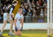 2 February 2014; Shane Connolly, left, and Tommy Moolick, Kildare, react to a goal by Darren Coen, Mayo. Allianz Football League, Division 1, Round 1, Kildare v Mayo, St Conleth's Park, Newbridge, Co. Kildare. Picture credit: Piaras Ó Mídheach / SPORTSFILE