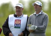 3 June 2005; Des Smyth and his caddy Ray Latchford during round one of the AIB Irish Seniors Open. Heritage Golf & Country Club, Killenard, Co. Laois. Picture credit; Matt Browne / SPORTSFILE