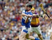 12 June 2005; Seamus Dwyer, Laois, in action against Eoin Quigley, Wexford. Guinness Leinster Senior Hurling Championship Semi-Final, Wexford v Laois, Croke Park, Dublin. Picture credit; Matt Browne / SPORTSFILE