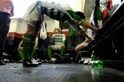 12 June 2005; A general view of the Shamrock Rovers dressing room before the start of the game. FAI Carlsberg Cup 2nd Round, Shamrock Rovers v Fanad United, Dalymount Park, Dublin. Picture credit; David Maher / SPORTSFILE