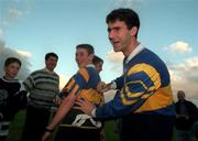 Liam Sheedy Tipperary signs a fans Jersey during the Press night in Thurles. Photo by Ray McManus/Sportsfile