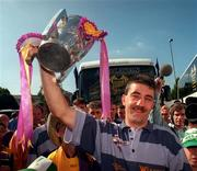Wexford captain Martin Storey with the Liam MacCarthy cup at the reception for the 1996 All Ireland Hurling Final at the Burlington Hotel in Dublin, 2/9/96. Photograph David Maher SPORTSFILE