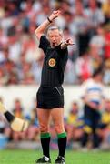 Pat O'Connor Referee, ( Clare V Tipperary, Munster Hurling Championship Final,  Pairc Ui Chaoimh, 6/7/97. )  Photograph Ray McManus SPORTSFILE.