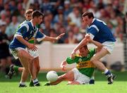 24 August 1997; William Kirby of Kerry in action against Stephen King, right, and Terry Farrelly, left, of Cavan during the GAA Football All-Ireland Senior Championship Semi-Final match between Cavan and Kerry at Croke Park, Dublin. Photo by Ray McManus/Sportsfile