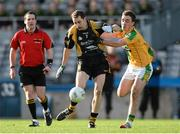 9 February 2014; David Delaney, Fuerty, in action against Chris Julian, Two Mile House. AIB GAA Football All Ireland Junior Club Championship Final, Two Mile House, Kildare v Fuerty, Roscommon. Croke Park, Dublin. Picture credit: Paul Mohan / SPORTSFILE