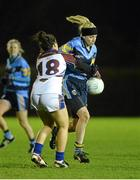 11 February 2014; Laura Nerney, University College Dublin, in action against Charlotte Cooney, University Limerick. HE GAA O'Connor Cup 2014, University College Dublin v University Limerick, UCD, Belfield, Dublin. Picture credit: Barry Cregg / SPORTSFILE