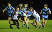 11 February 2014; Niamh Collins, University College Dublin, in action against Charlotte Cooney and Beulach McManus, right, University Limerick. HE GAA O'Connor Cup 2014, University College Dublin v University Limerick, UCD, Belfield, Dublin. Picture credit: Barry Cregg / SPORTSFILE