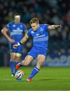 14 February 2014; Ian Madigan, Leinster, kicks a penalty. Celtic League 2013/14 Round 14, Leinster v Newport Gwent Dragons, RDS, Ballsbridge, Dublin. Picture credit: Ramsey Cardy / SPORTSFILE