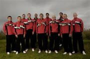 27 June 2005; Pictured at the launch of the new PUMA King Exec football boot are, left to right, Dara O'Cinneide, Kerry, Ross Munnelly, Laois, Oisin McConville, Armagh, Henry Shefflin, Kilkenny, Stephen O'Shaughnessy, Dublin, Ciaran Whelan, Dublin, Paul Clancy, Galway, Mark Vaughan, Dublin, Trevor Mortimer, Mayo, Bryan Cullen, Dublin, and John Mullane Waterford. Elverys Store, Fonthill, Dublin. Picture credit; David Maher / SPORTSFILE