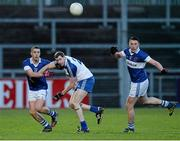 15 February 2014; Shane Carthy, left, and Eamon Fennell, St Vincent's, in action against Enda Muldoon, Ballinderry. AIB GAA Football All-Ireland Senior Club Championship, Semi-Final, St Vincent's, Dublin v Ballinderry, Derry. Páirc Esler, Newry, Co. Down. Picture credit: Oliver McVeigh / SPORTSFILE