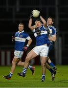 15 February 2014; Gavin Burke, St Vincent's, in action against Enda Muldoon, Ballinderry. AIB GAA Football All-Ireland Senior Club Championship, Semi-Final, St Vincent's, Dublin v Ballinderry, Derry. Páirc Esler, Newry, Co. Down. Picture credit: Oliver McVeigh / SPORTSFILE