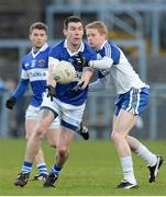 15 February 2014; Michael Concarr, St Vincent's, in action against Colin Devlin, Ballinderry. AIB GAA Football All-Ireland Senior Club Championship, Semi-Final, St Vincent's, Dublin v Ballinderry, Derry. Páirc Esler, Newry, Co. Down. Picture credit: Oliver McVeigh / SPORTSFILE