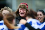 16 February 2014; Monaghan manager John Morrison with his players after the game against Cork. Tesco Ladies National Football League, Round 3, Cork v Monaghan, Mallow GAA Grounds, Mallow, Co. Cork. Picture credit: Matt Browne / SPORTSFILE