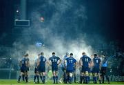 14 February 2014; Leinster players await a decision from the TMO. Celtic League 2013/14 Round 14, Leinster v Newport Gwent Dragons, RDS, Ballsbridge, Dublin. Picture credit: Ray Lohan / SPORTSFILE