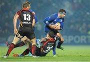 14 February 2014; Fergus McFadden, Leinster, in action against Ross Wardle, 23, and Patrick Leach, Newport Gwent Dragons. Celtic League 2013/14 Round 14, Leinster v Newport Gwent Dragons, RDS, Ballsbridge, Dublin. Picture credit: Piaras Ó Mídheach / SPORTSFILE
