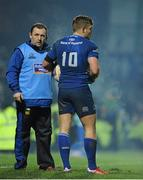 14 February 2014; Leinster senior skills and kicking coach Richie Murphy with Ian Madigan. Celtic League 2013/14 Round 14, Leinster v Newport Gwent Dragons, RDS, Ballsbridge, Dublin. Picture credit: Piaras Ó Mídheach / SPORTSFILE
