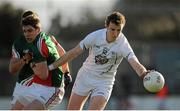 2 February 2014; Seán Hurley, Kildare, in action against Lee Keegan, Mayo. Allianz Football League, Division 1, Round 1, Kildare v Mayo, St Conleth's Park, Newbridge, Co. Kildare. Picture credit: Piaras Ó Mídheach / SPORTSFILE