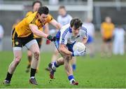 23 February 2014; Sean Armstrong, Connacht, in action against Cian Mackey, Ulster. M Donnelly Interprovincial Football Championship Final, Connacht v Munster, Tuam Stadium, Tuam, Co. Galway. Picture credit: Ray Ryan / SPORTSFILE