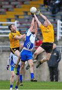 23 February 2014; Jason Gibbons, Connacht, in action against Kieran Hughes, Ulster. M Donnelly Interprovincial Football Championship Final, Connacht v Munster, Tuam Stadium, Tuam, Co. Galway. Picture credit: Ray Ryan / SPORTSFILE