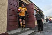 23 February 2014; Eamon Mackle, Ulster management holds the door open for Sean Cavanagh, captain. M Donnelly Interprovincial Football Championship Final, Connacht v Munster, Tuam Stadium, Tuam, Co. Galway. Picture credit: Ray Ryan / SPORTSFILE