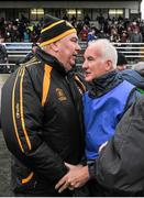 23 February 2014; John Tobin, Connacht manager is congratulated after the game by Joe Kernan, Ulster manager. M Donnelly Interprovincial Football Championship Final, Connacht v Munster, Tuam Stadium, Tuam, Co. Galway. Picture credit: Ray Ryan / SPORTSFILE