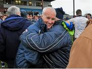 23 February 2014; John Tobin, Connacht manager is congratulated after the game. M Donnelly Interprovincial Football Championship Final, Connacht v Munster, Tuam Stadium, Tuam, Co. Galway. Picture credit: Ray Ryan / SPORTSFILE