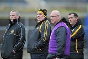 23 February 2014; The Ulster manager Joe Kernan, second left. M Donnelly Interprovincial Football Championship Final, Connacht v Munster, Tuam Stadium, Tuam, Co. Galway. Picture credit: Ray Ryan / SPORTSFILE