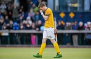 23 February 2014; Karl Lynch, Pembroke Wanderers, reacts after missing during a penalty stroke shoot out after extra time. Irish Men's Senior Cup Final, Pembroke Wanderers v Three Rock Rovers, National Hockey Stadium, UCD, Belfield, Dublin. Picture credit: Brendan Moran / SPORTSFILE