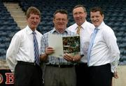14 July 2005; Gaelic Telecom, which is an official partner to the GAA, today launched its services in conjunction with the Dublin County Board. It is now offering its services directly to all GAA members and supporters which will help raise funds for their club and county. At the launch are, l to r, John Bailey, County Board Chairman, Pat Walsh, Ballyboden St. Endas, Anton O'Toole and Ciaran Doyle, both Gaelic Telecom. Parnell Park, Dublin. Picture credit; Matt Browne / SPORTSFILE