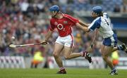 24 July 2005; Tom Kenny, Cork, is tackled by James Murray, Waterford. Guinness All-Ireland Senior Hurling Championship Quarter-Final, Cork v Waterford, Croke Park, Dublin. Picture credit; Brendan Moran / SPORTSFILE