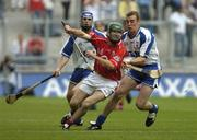 24 July 2005; Jerry O'Connor, Cork, in action against Eoin Kelly and Eoin Murphy, left, Waterford. Guinness All-Ireland Senior Hurling Championship Quarter-Final, Cork v Waterford, Croke Park, Dublin. Picture credit; Damien Eagers / SPORTSFILE