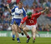 24 July 2005; Jerry O'Connor, Cork, in action against Eoin Kelly, Waterford. Guinness All-Ireland Senior Hurling Championship Quarter-Final, Cork v Waterford, Croke Park, Dublin. Picture credit; Brendan Moran / SPORTSFILE