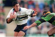 8 April 2000; Kieran Campbell, London Irish, holds off the challenge of Alan Bateman, Northampton. Tetley Cup semi-final, Northampton v London Irish, Madejski Stadium, Reading, England. Picture credit: Brendan Moran / SPORTSFILE