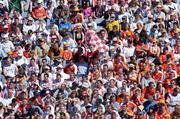 10 July 2005; Armagh and Tyrone fans watch the match. Bank of Ireland Ulster Senior Football Championship Final, Armagh v Tyrone, Croke Park, Dublin. Picture credit; Brian Lawless / SPORTSFILE