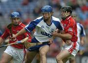 24 July 2005; James Murray, Waterford, in action against Cork's Kieran Murphy, left, and Ben O'Connor. Guinness All-Ireland Senior Hurling Championship Quarter-Final, Cork v Waterford, Croke Park, Dublin. Picture credit; Ray McManus / SPORTSFILE