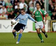 15 August 2005; Richie Baker, Shelbourne, in action against  Neale Fenn, Cork City. eircom League, Premier Division, Cork City v Shelbourne, Turners Cross, Cork. Picture credit; David Maher / SPORTSFILE