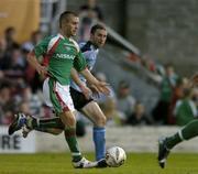 15 August 2005; Liam Kearney, Cork City, in action against Owen Heary, Shelbourne. eircom League, Premier Division, Cork City v Shelbourne, Turners Cross, Cork. Picture credit; David Maher / SPORTSFILE