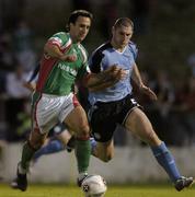 15 August 2005; Neale Fenn, Cork City, in action against Colin Hawkins, Shelbourne. eircom League, Premier Division, Cork City v Shelbourne, Turners Cross, Cork. Picture credit; David Maher / SPORTSFILE
