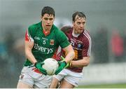 9 March 2014; Lee Keegan, Mayo, in action against Doron Hart, Westmeath. Allianz Football League Division 1 Round 4, Westmeath v Mayo, Cusack Park, Mullingar, Co. Westmeath. Picture credit: Paul Mohan / SPORTSFILE