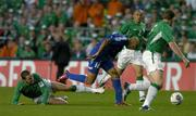 7 September 2005; Thierry Henry, France, in action against John O'Shea, left, Republic of Ireland. FIFA 2006 World Cup Qualifier, Group 4, Republic of Ireland v France, Lansdowne Road, Dublin. Picture credit; Brendan Moran / SPORTSFILE