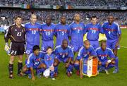 7 September 2005; The France team, back row, left to right, Gregory Coupet, Zinedine Zidane, Lilian Thuram, William Gallas, Jean-Alais Boumsong, Willy Sagnol, Patrick Vieira. Front row left to right, Vikash Dhorasoo, Claude Makelele, Thierry Henry, Sylvain Wiltord. FIFA 2006 World Cup Qualifier, Group 4, Republic of Ireland v France, Lansdowne Road, Dublin. Picture credit; Brian Lawless / SPORTSFILE