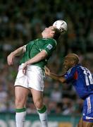 7 September 2005; Richard Dunne, Republic of Ireland, in action against Thierry Henry, France. FIFA 2006 World Cup Qualifier, Group 4, Republic of Ireland v France, Lansdowne Road, Dublin. Picture credit; Brendan Moran / SPORTSFILE