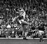 21 September 1986; Timmy Dowd, Kerry, in action against Tyrone. Kerry v Tyrone, All-Ireland Football Final, Croke Park, Dublin. Football. Picture credit; Ray McManus / SPORTSFILE