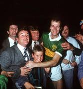 21 September 1986; Kerry's Jack O'Shea is congratulated by fans after the game. Kerry v Tyrone, All-Ireland Football Final, Croke Park, Dublin. Picture credit; Ray McManus / SPORTSFILE